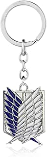 Attack on Titan Keychain - Attack on Titan Wings of Liberty Keychain - Attack on Titan Survey Corps Keychain - Attack on T...