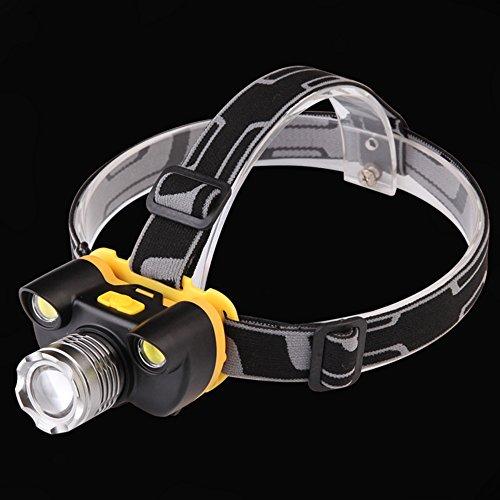 Lylgood Linterna frontal LED recargable, resistente al agua, 3 luces LED, 3...