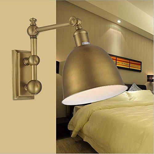 NIHE E27 pays européen main cuivre antique forgé mode en fer simple lampe murale tête