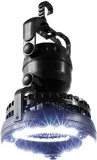 【2017年最新バージョン】LEDランタン キャンプライト ファン付き 扇風機 電池式 360度回転 アウトドア テント 野営 登山 防災 非常用 懐中電灯