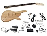 Solo SR Style DIY Bass Guitar Kit, 5 String Ash Body, HH Pickups