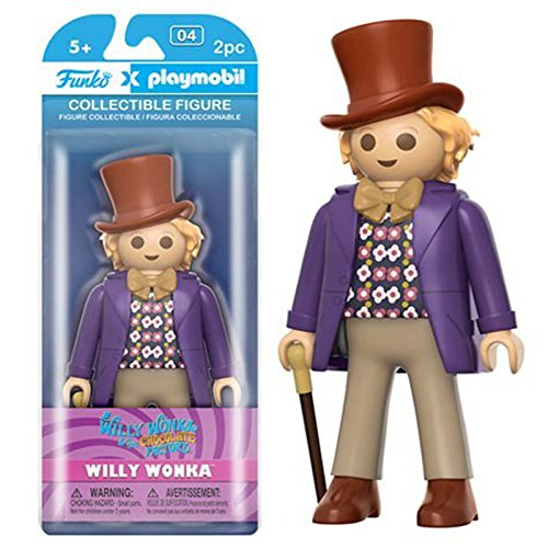 Funko - Figurine Charlie et la Chocolaterie Playmobil - Willy Wonka 15cm - 0849803077792