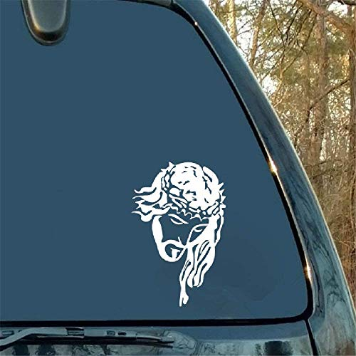 Dozili - Adhesivo de vinilo para ventana trasera, diseño de Jesucristo con corona de coche, 6 pulgadas