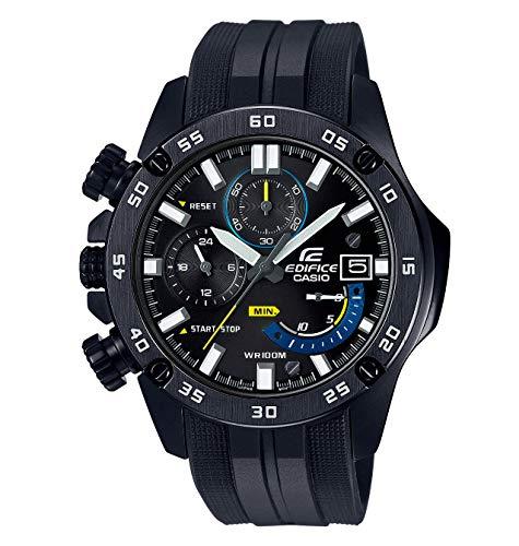 Casio Edifice Herren Massives Edelstahlgehäuse und-Resinarmband Uhrenarmband EFR-558BP-1AVUEF