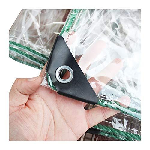 HAI RONG Lona impermeable resistente al agua, cubierta transparente de 400 g/m², con ojales de metal, protección de 0,3 mm, para área de jardín, patio, camping, jardinería residencial