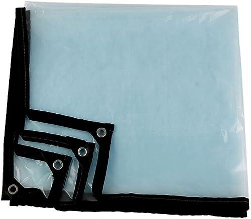 QYJPB épaisseur De Parasol en Plastique en Plastique Imperméable Au Vent Froid Imperméable à La Pluie De Tente De Bache Transparente  0.35mm - Housses de Prougeection pour Plantes (Taille   3x3m)