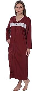 ثوب نوم نسائي طويل بسحاب طويل الأكمام أنيق فضفاض من Housecoat