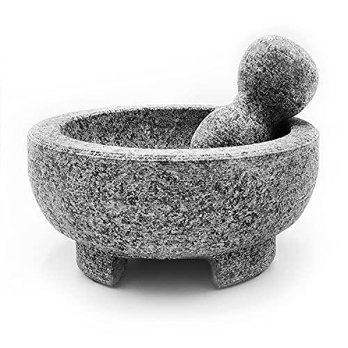 Granite Mortar and Pestle Set Guacamole Bowl Molcajete 8...