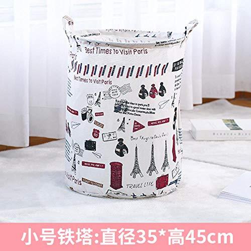 Wasmand voor kleine huishoudelijke stoffen Opvouwbare speelgoedkleren Zet vuile kleren Opbergemmer Wasmand, ijzeren toren