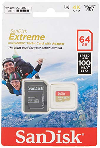 SanDisk Extreme - Tarjeta de memoria 64GB microSDXC para mó