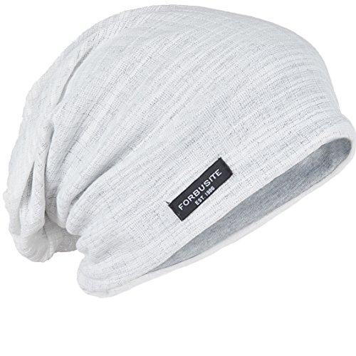 FORBUSITE Gorros de lana para hombre, unisex y delgados, B018h Blanco, Large