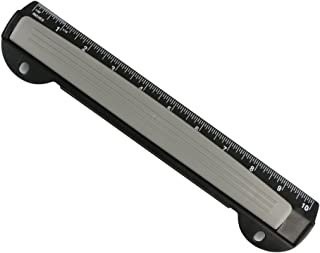 Eagle Portable Ring Binder 3-Hole Punch with Chip Tray, Integrated Ruler-New Design, 5 Sheets Capacity (Black)