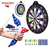 GIGGLE N GO 4 Games on 1 Magnetic Dart Board. Or use as 2 Targets for Shooting Practice for Kids - Our Dart...