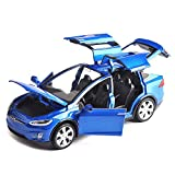 ANTSIR Car Model X 1:32 Scale Alloy diecast Pull Back Electronic Toys with Lights and Music,Mini Vehicles Toys for Kids Gift (Blue)