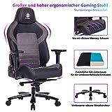 VON RACER KILLABEE großer und breiter Memory-Schaum Gaming Stuhl mit Gel Kaltschaum...