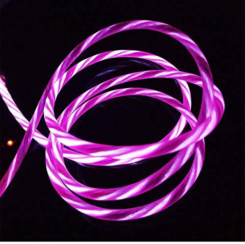 LQZHP - Cable de carga USB para iPhone X/8/8 Plus/7/7 Plus/6/6 Plus/6S/6S Plus/5/5S/5C/SE/iPad/iPod, color rojo