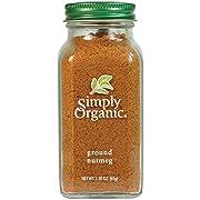 Simply Organic Ground Nutmeg, Certified Organic | 2.3 oz | Pack of 2 | Myristica fragrans Houtt.