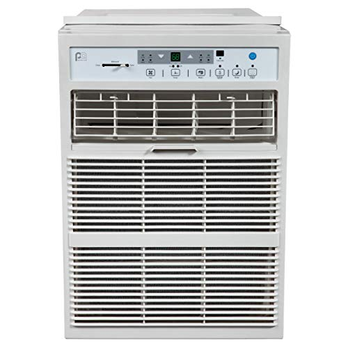 PerfectAire 10,000 BTU Slider Air Conditioner Window A/C - Casement, 10000, Gray