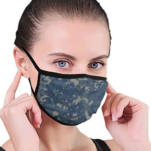 Masken Navy Flectarn Camouflage Nahtlose MusterMänner Frauen Mädchen Winter Gesichtsmaske Maske Mund