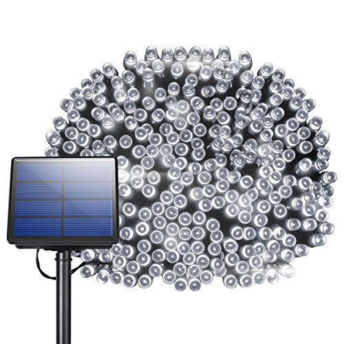 200 LED Solar String Lights, Litom Outdoor Solar Decor Powered Lights...