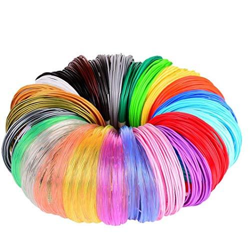 Impresora 3D impresora de la pluma de filamento 24 recargas de color 3D Pen Material plástico para impresión en 3D de moldeo de accesorios profesionales PLA PCL 3D Pen Refill filamento 1pc 5M