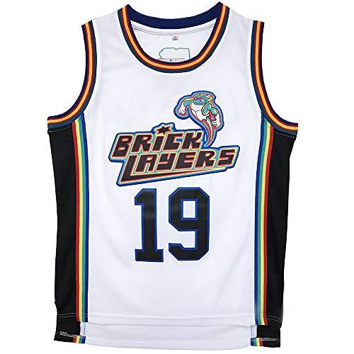 Mens Basketball Jersey #19 Aaliyah Brick Layers 1996 MTV Rock N Jock Jersey (M)