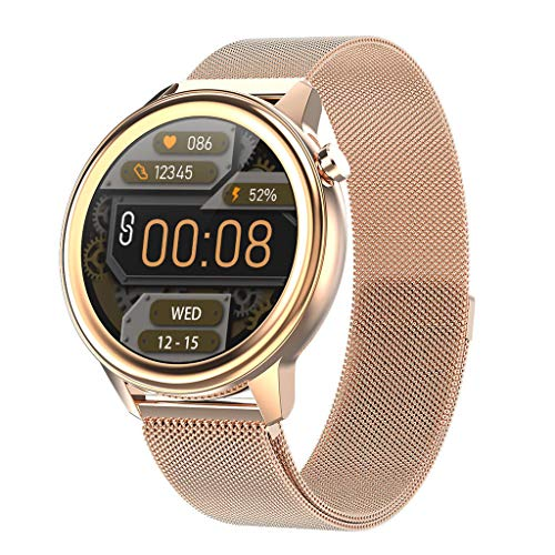 APCHY Reloj Inteligente Smartwatch para Hombres,Rastreadores De Actividad De Monitoreo De La Temperatura Corporal,Frecuencia Cardíaca,Presión Arterial, Oxígeno En La Sangre,A
