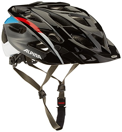Alpina D-Alto Fahrradhelm, Black-Red-Blue, 57-61 cm