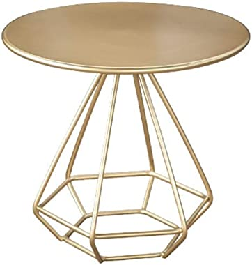 Coffee Table Metal Coffee Table, Nordic Style Antirust Small Round Table Living Room Balcony Hotel Decorative Table Multi-Fun