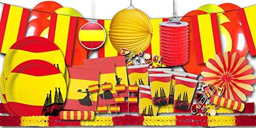 Spanien Dekoset XXL- Partygeschirr & Partydeko im Sparset