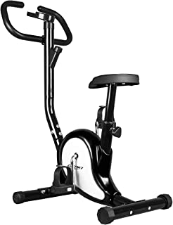 Genki Belt Bike Upright Exercise Bike Indoor Home Gym Equipment Spin Bike Black