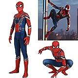 HAOWUTX Spiderman Leave lejos del hogar Costume Hierro Spiderman Impresión 3D Impresión Spandex Adultos Niños Halloween Carnival Superhéroe Fiesta de cumpleaños (Color : Jumpsuit, Talla : 115-125cm)