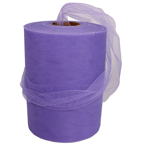 Lavender Tulle Spool 6 Inch x 100 Yards for Tulle Decoration
