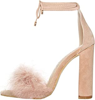 Best feather chunky heels Reviews