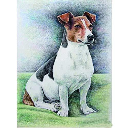 Pintura de Diamante 5D completo Kit lindo perro mascota,DIY Diamond painting adulto/niño punto de cruz Crystal Rhinestone bordado art manualidades para decor de paredes regalos Square Drill,80x100cm