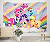 Little Pony Tapestry-My Little Pony Banner Tapestry-My Little Pony Baby Tapestry-For Girls   Baby Shower   Birthday Party, etc. Little Pony Background Tapestry Decoration