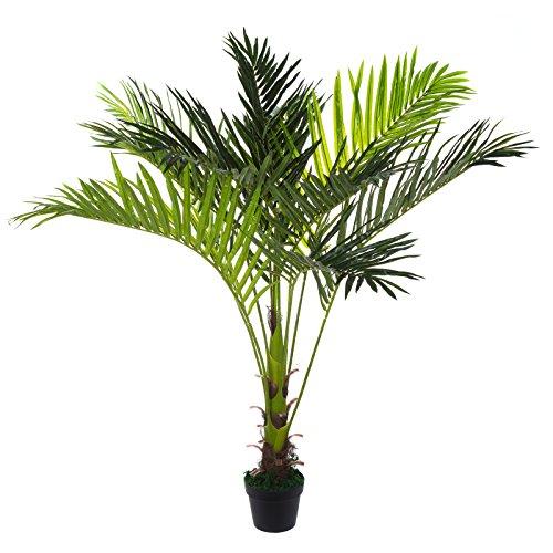 Sarah B XXL Areca Palme. Farnpalme, Kokospalme JWS2255 Riesige künstliche 140cm hohe Kunstpflanze, Kunstblume, Kunstbaum, Zimmerpflanze künstlich