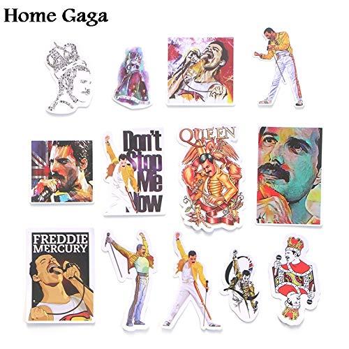 BLOUR Freddie Mercury Scrapbooking Abziehbilder DIY Kreative Abzeichen DIY Dekorative Aufkleber Vintage Notebook Telefon 13pcs