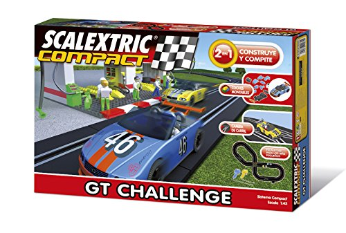 Scalextric Compact - Circuito GT Challenge Compacto: escala reducida 1:43 - ocupa menos (C10127S500)