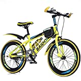 N&I Bicycle Single Speed Mountain Student Bike 20 inch 22 inch Bike High Carbon Steel Rear Brake Brake Shock Absorption Primary School Children's Bicycle Yellow 22Inch Red 20inch