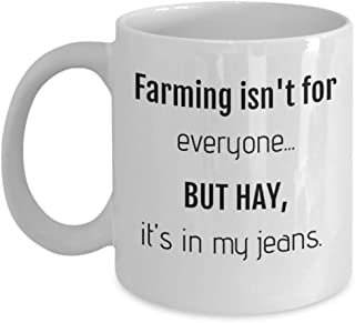 Farmers Coffee Mugs - Hay Farm Cup 11oz - Farming Gifts for Men, Women, Sister, Wife, Brother, Husband, Teacher
