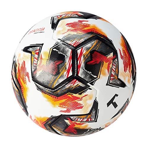 T1TAN Dragon Matchball Gr. 5 für Vereine - Fussball Spielball Herren & Frauen Größe 5 - Thermobonded Ball - nahtlos verklebt
