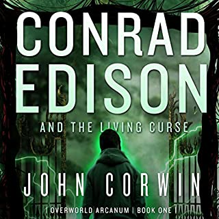Conrad Edison and the Living Curse audiobook cover art