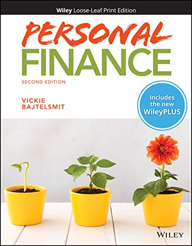 Compare Textbook Prices for Personal Finance, WileyPLUS NextGen Card with Loose-leaf Set 2 Edition ISBN 9781119592532 by Bajtelsmit, Vickie L.