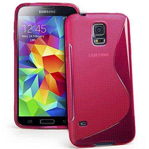 HCN PHONE Samsung Galaxy S5Mini Custodia S-Line TPU Gel Silicone Cover Morbida per Samsung Galaxy S5Mini