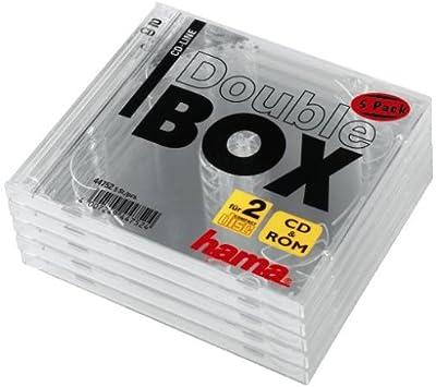 Hama Cd Doppel Leerhülle Standard 5er Pack Transparent