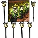 ionlyou Solarlampen für Außen, Solarleuchten Garten 6 Stück Gartenleuchte Solar LED Warmweiß Gartenleuchten für Außen Deko Garten IP65 Wasserdicht Wegeleuchten Dekorative Licht Gartenlicht