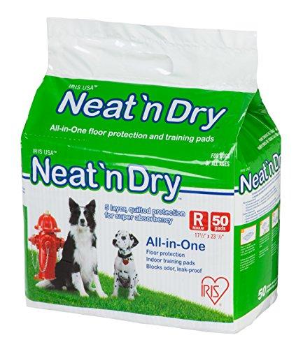 IRIS USA Neat 'n Dry Premium Pet Training Pads, Regular, 17.5