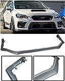 Replacement For 2018-Present Subaru Impreza WRX & STi | EOS V-LIMITED Style Polypropylene PRIMER BLACK Front Bumper Lower Lip Splitter Under Spoiler