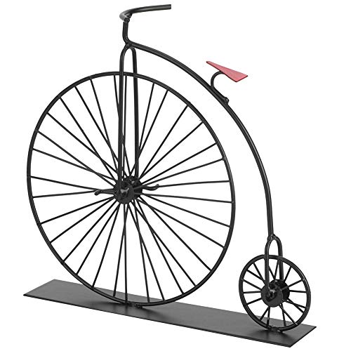 Hztyyier Adorno de Bicicleta Retro Mini Pintura Modelo de Bicicleta recubierta Modelo de Bicicleta Negra Decorativa Pantalla de Adorno de Escritorio